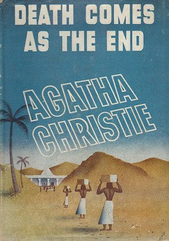 Death Comes as the End - Dust-jacket illustration of the US (true first) edition. See Publication history (below) for UK first edition jacket image.