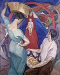 Diego Rivera, 1912-13, Adoration of the Virgin and Child, oil and encaustic on canvas, 150 x 120 cm, private collection.jpg