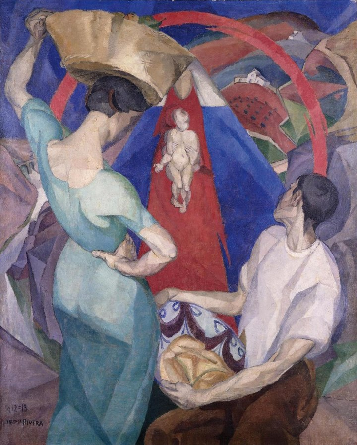 Diego Rivera, 1912-13, Adoration of the Virgin and Child, oil and encaustic on canvas, 150 x 120 cm, private collection