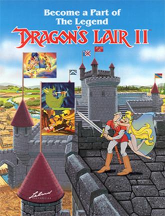 Dragon's Lair II: Time Warp - Dragon's Lair II arcade flyer