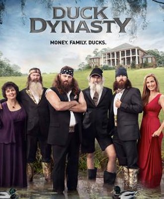 Duck Dynasty - The Robertsons, from left: Miss Kay, Phil, Willie, Si, Jase, and Korie