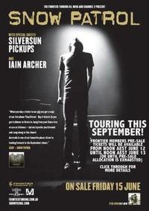 Eyes Open Tour - Poster advertising Snow Patrol's Australian Tour of September 2007
