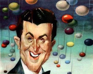 Sam Berman - Sam Berman's caricature of bandleader-vocalist Eddy Howard for NBC's 1947 promotional book, NBC Parade of Stars as Seen by Sam Berman: As Heard over Your Favorite NBC Station.