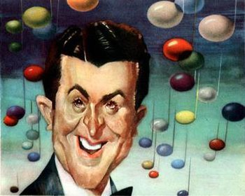 Eddy Howard caricature by Sam Berman for NBC's 1947 promotional book.