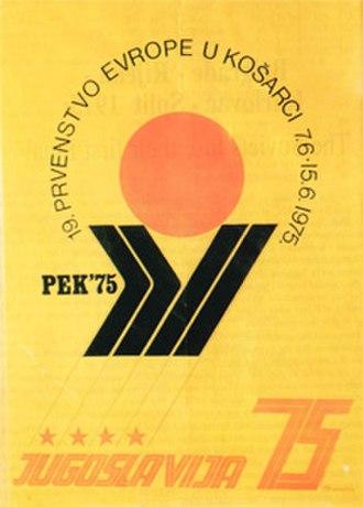EuroBasket 1975 - Image: Euro Basket 1975 logo