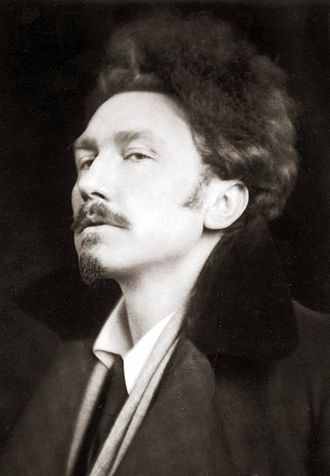 Indian Camp - Ezra Pound photographed by E.O. Hoppé in 1920, two years before he taught Hemingway to write in the imagist style.