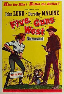 <i>Five Guns West</i> 1955 film by Roger Corman