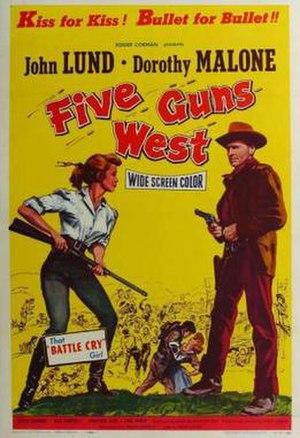 Five Guns West - Image: Five Guns West Film Poster