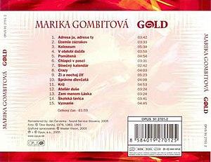 Gold (Marika Gombitová album) - Image: Goldgombitova 2