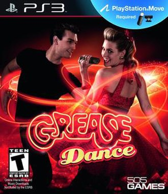 Grease Dance - North American PlayStation 3 cover art. The final version features French (so that the game may be sold in Canada)