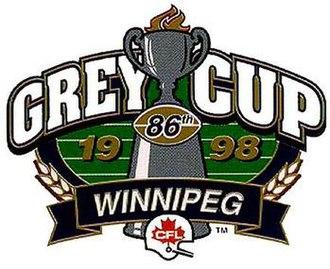 86th Grey Cup - Image: Grey Cup 98