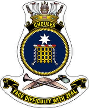 HMAS Choules (L100) - Ship's badge