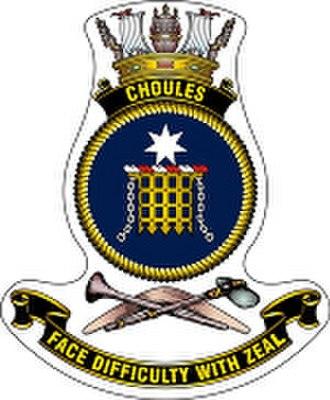 HMAS Choules (L100) - Ship's badge