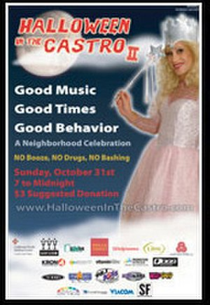 Halloween in the Castro -  Poster for Halloween in the Castro 2005 featuring spokesperson Donna Sachet.