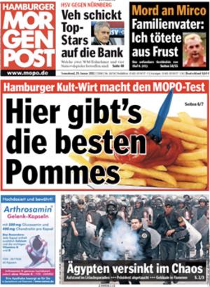 Hamburger Morgenpost - Image: Hamburger Morgenpost front page