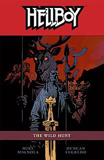<i>Hellboy: The Wild Hunt</i> ninth collected edition of the Dark Horse Comics series Hellboy