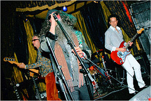 The Jimi Homeless Experience - Jimi Homeless live in Los Angeles, 2008. Left to right: Robin Johnson, Josh Curtis, Jason DeCorse.
