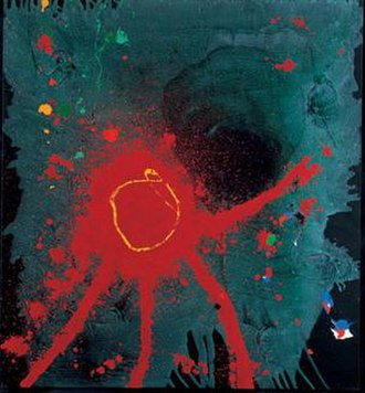 John Hoyland - Lebanon, 2007, acrylic on cotton duck, 60 x 55 inches
