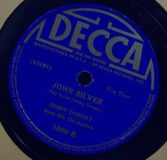 John Silver (song) - 1938 release on Decca Records, 1860B.