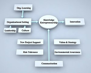Model of knowledge entrepreneurship. Used in S...