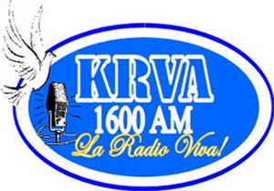 KRVA (AM) - Previous KRVA ident used until late 2012.