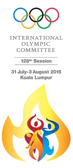 128th IOC Session - The official banner of the 128th IOC Session.