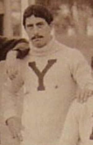 Albert Simmonds - Simmonds wearing his Yale jersey in an 1895 photo at LSU
