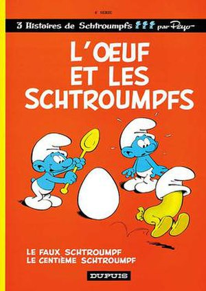 The Egg and the Smurfs - Cover of the French edition
