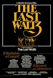 <i>The Last Waltz</i> 1978 concert film directed by Martin Scorsese