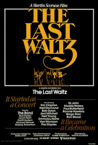 The Last Waltz - Original theatrical release poster