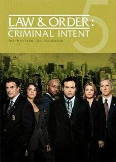 <i>Law & Order: Criminal Intent</i> (season 5) season of television series