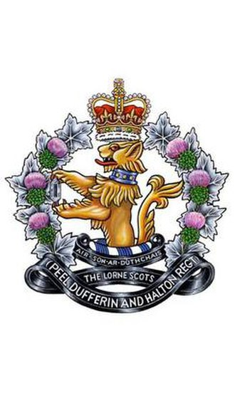 The Lorne Scots (Peel, Dufferin and Halton Regiment) - The old cap badge of the Lorne Scots used in till 2016.