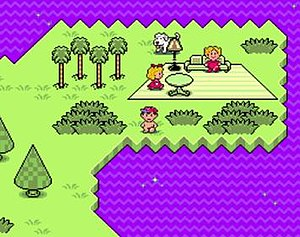 EarthBound - In the original Mother 2, Ness walks naked through his dream town Magicant.  In the U.S. release this was changed to his pajamas without his cap.