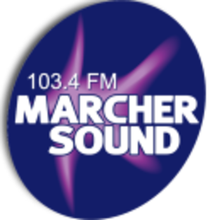 Marcher Radio Group - Marcher Sound's logo from 2006-2007, after it was rebranded from MFM