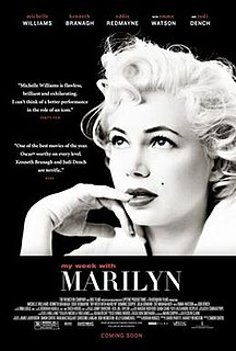 <i>My Week with Marilyn</i> 2011 British-American drama film directed by Simon Curtis