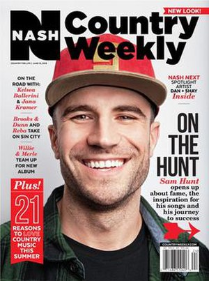 Nash Country Weekly - The June 15, 2015 issue, the first after the rename to Nash Country Weekly, featuring Sam Hunt on the cover.