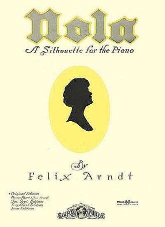 """Felix Arndt - """"Nola"""" sheet music cover"""