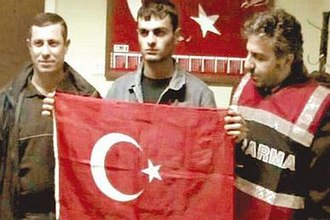 Anti-Armenian sentiment - Shortly after Hrant Dink was murdered, the assassin was honored as a hero while in police custody, posing with a Turkish flag with policemen.