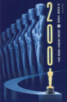 Official poster promoting the 73rd Academy Awards in 2001.