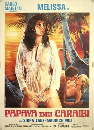 Papaya, Love Goddess of the Cannibals - Italian theatrical release poster