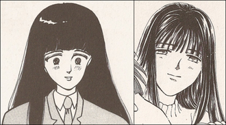 Please Save My Earth - On the left: Alice Sakaguchi, manga volume 1. On the right: Alice Sakaguchi, manga volume 21.