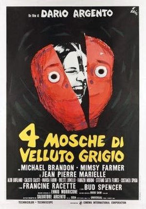 Four Flies on Grey Velvet - Italian theatrical release poster
