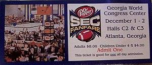 SEC Football Fanfare - Image: SEC Fanfareticket