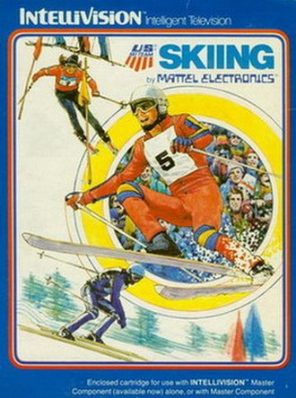 Skiing (Intellivision video game) - Cover art