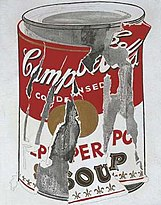 Andy Warhol's Small Torn Campbell's Soup Can (Pepper Pot), 1962.