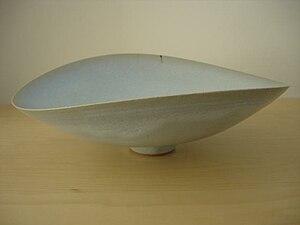 Rupert Spira - Medium white glaze bowl (35cm x 26cm x 14cm)