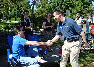 Steve Stivers - Steve Stivers shaking hands at the Grandview Memorial Day Weekend Parade.