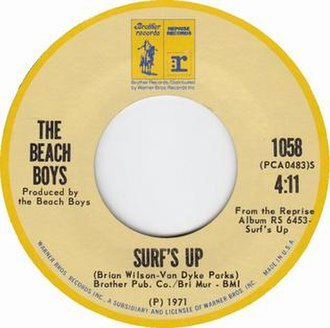 Surf's Up (song) - Image: Surf's Up 1971