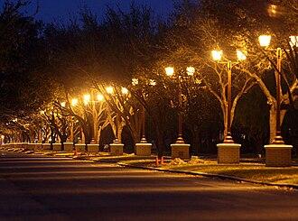 Texas A&M University–Kingsville - Lamps align alongside University Blvd at TAMUK
