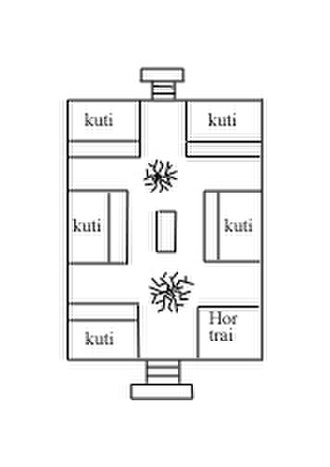 Architecture of Thailand - A cluster arrangement of kuti around a central terrace